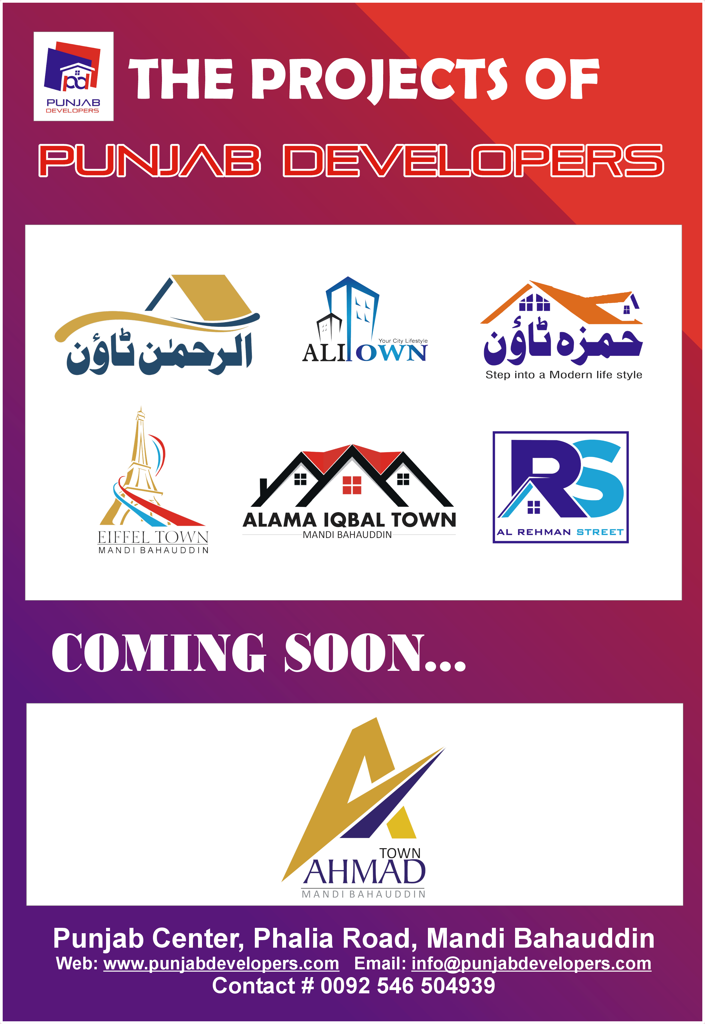 All Running Projects of Punjab Developers
